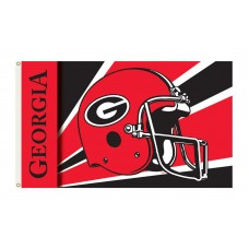 Georgia Bulldogs Helmet 3'x 5' Flag