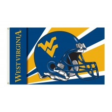West Virginia Mountaineers Helmet 3'x 5' Flag