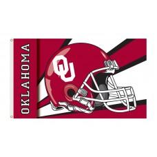 Oklahoma Sooners Helmet 3'x 5' Flag