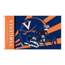 Virginia Cavaliers Helmet 3'x 5' Flag