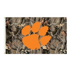 Clemson Tigers Realtree Camo 3'x 5' Flag