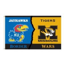 Kansas Jayhawks-Missouri House Divided 3'x 5' Flag