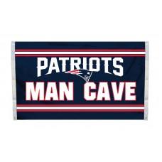 New England Patriots MAN CAVE 3'x 5' NFL Flag