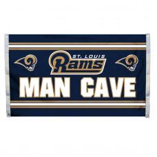 St. Louis Rams MAN CAVE 3'x 5' NFL Flag