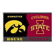 Iowa Hawkeyes-Iowa State House Divided 3'x 5' Flag
