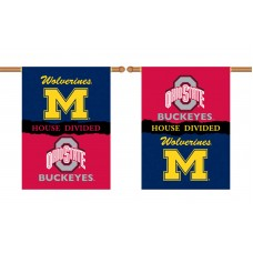 Michigan Wolverines-Ohio State House Divided 28 x 40 Banner