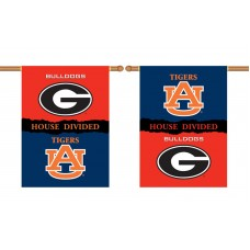 Georgia Bulldogs-Auburn Tigers House Divided 28 x 40 Banner