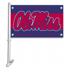 Mississippi Rebels NCAA Double Sided Car Flag