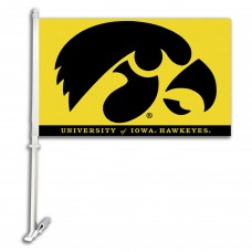 Iowa Hawkeyes NCAA Double Sided Car Flag