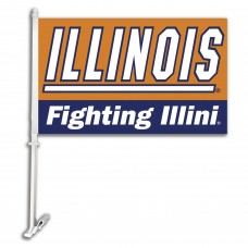 Illinois Fighting Illini NCAA Double Sided Car Flag