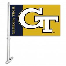 Georgia Tech Yellow Jackets NCAA Double Sided Car Flag