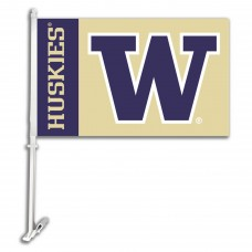 Washington Huskies NCAA Double Sided Car Flag
