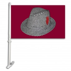 Alabama Crimson Tide Plaid Hat 11-inch by 18-inch Two Sided Car Flag