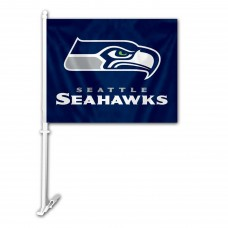 Seattle Seahawks Two Sided Car Flag
