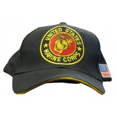 United States Marine Corps Black Embroidered Hat