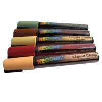 "1/4"" Earth Tones Liquid Chalk Full 5 Pc Set"