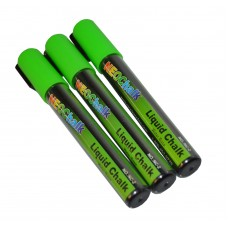 "1/4"" Chisel Tip Neon Liquid Chalk Marker - Green 3 Pack"