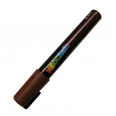 "1/4"" Chisel Tip Earth Tone Liquid Chalk Marker - Chocolate Brown"