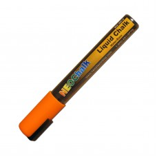 "1/4"" Chisel Tip Neon Liquid Chalk Marker - Orange"