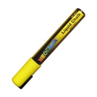 "1/4"" Chisel Tip Neon Liquid Chalk Marker - Yellow"