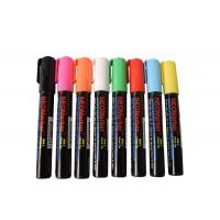 "1/4"" Chisel Tip Waterproof Sign & Art Marker Pens - Full 8 Pc Set"