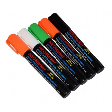 "1/4"" Spooky Ooky Chisel Tip Waterproof Marker Pens - Full 5 Pc Set"