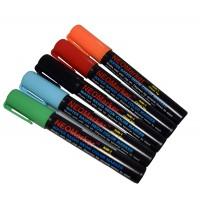 "1/4"" White Board Chisel Tip Waterproof Marker Pens - Full 5 Pc Set"