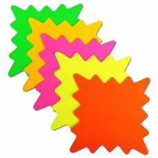 "5""x 5"" Square Neon Star Card 40pk"