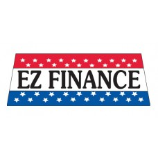 EZ Finance Car Window Banner