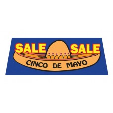 CINCO de MAYO SALE Car window Banner