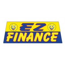 EZ Finance In Yellow Car Window Banner