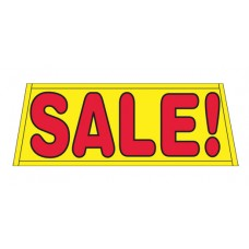 SALE In Yellow Car Windshield Banner