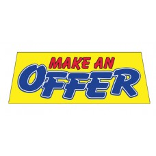 MAKE AN OFFER Car Window Banner