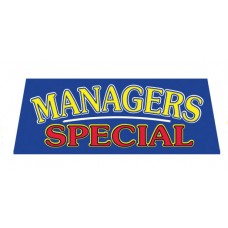 MANAGERS SPECIAL Car Window Banner