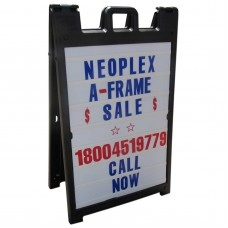 Signicade A-Frame Sidewalk Sign Letter Channel Message Panels