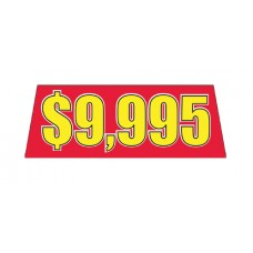Red/Yellow Price Banners for Car Lots