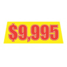 Yellow/Red Price Banners for Car Lots