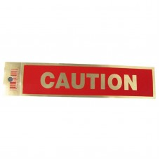 Gold Caution Policy Business Sticker