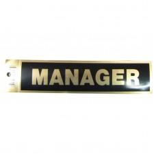 Gold Manager Policy Business Sticker