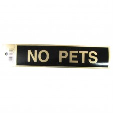 Gold No Pets Policy Business Sticker