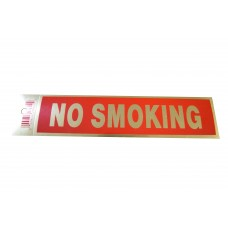 Gold No Smoking Policy Business Sticker