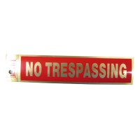 Gold No Trespassing Policy Business Sticker