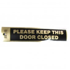 Gold Please Keep Door Closed Policy Business Sticker