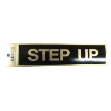 Gold Step Up Policy Business Sticker