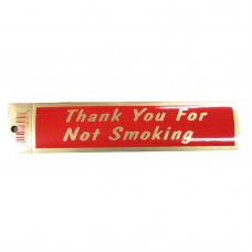 Gold Thank You For Not Smoking Policy Business Sticker