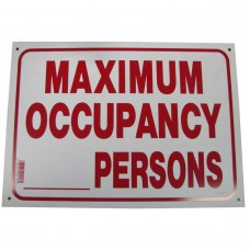 Maximum Occupancy Policy Business Sign