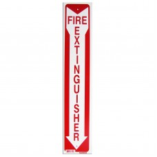 Fire Extinguisher/Arrow Policy Business Sign