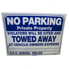 No Parking-Violators Will Be Towed Policy Business Sign