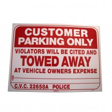 Customer Parking Only Policy Business Sign