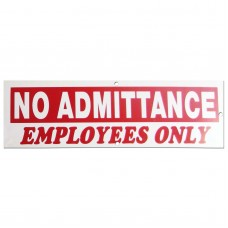 No Admittance-Employees Only Policy Business Sign